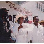 026 180406 La Otra en Suljaa - Acto en el Zócalo de Xochis