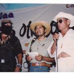032 180406 La Otra en Suljaa - Acto en el Zócalo de Xochis