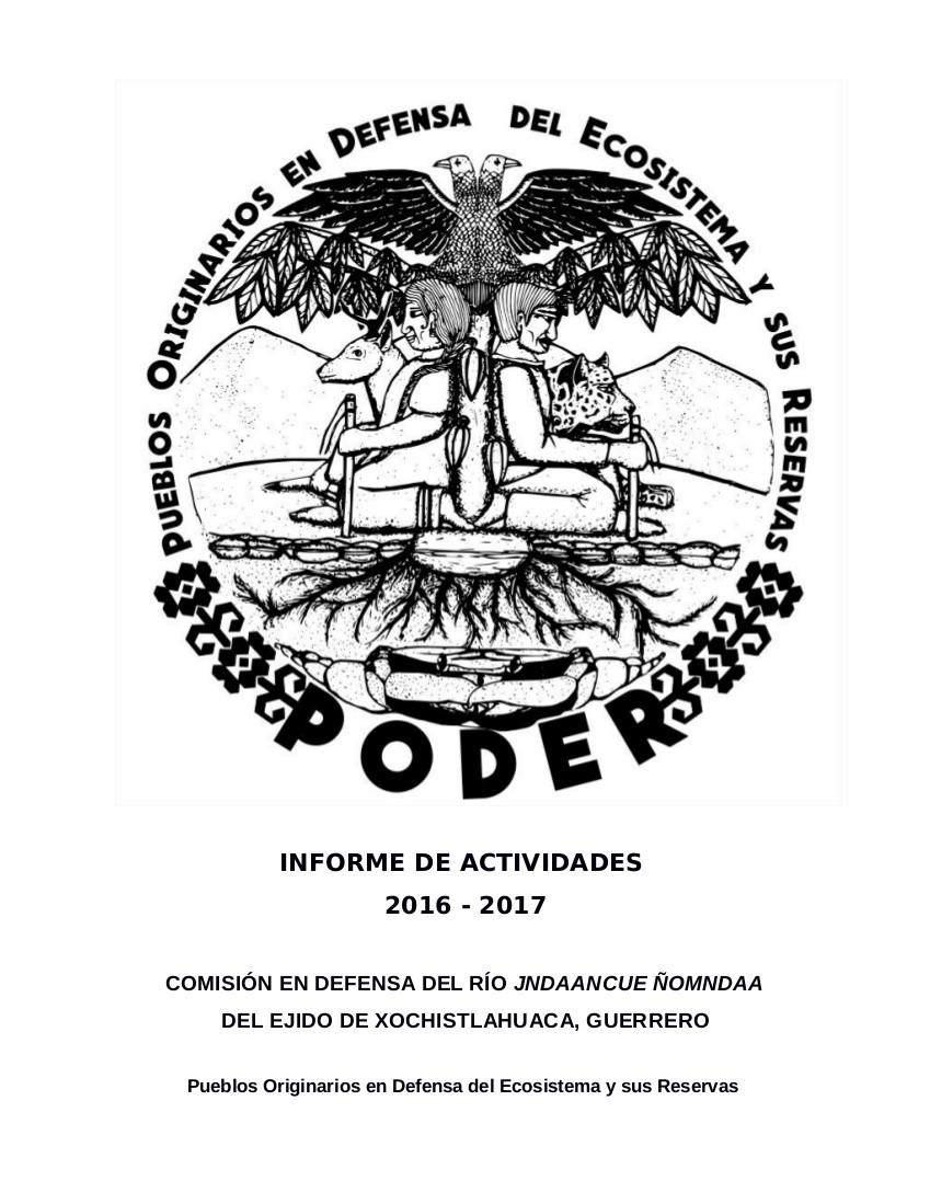 INFORME de Actividades PODER - Septiembre 2017-PORTADA