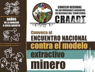 Encuentro contra el modelo extractivo minero